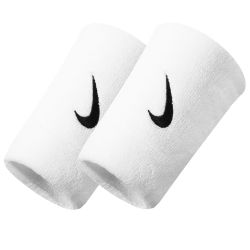 Напульсники Nike Swoosh Double Wide Wristband White NNN05101OS