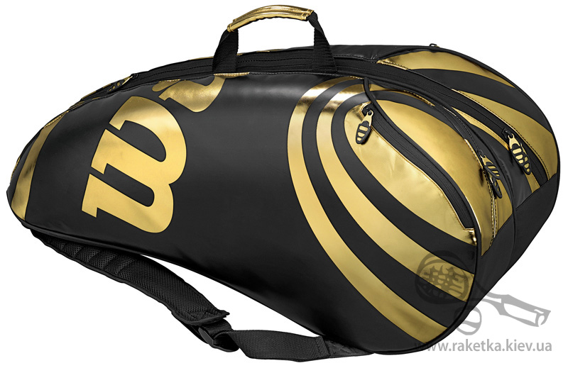 wilson blx tour six bag black gold. jpg.